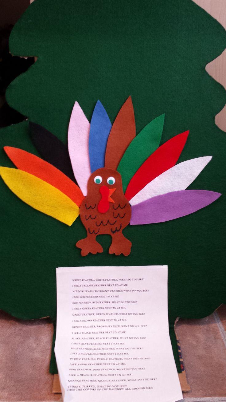 Rainbow turkey, learning colors