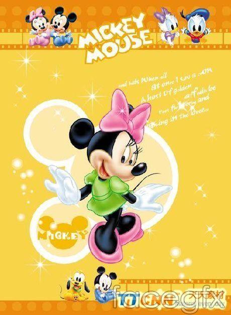 Cute Minnie mouse PSD