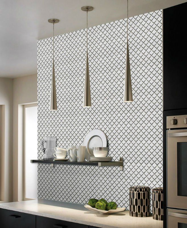 Nc224649 White Matt Lantern Mosaic Tiles Brisbane