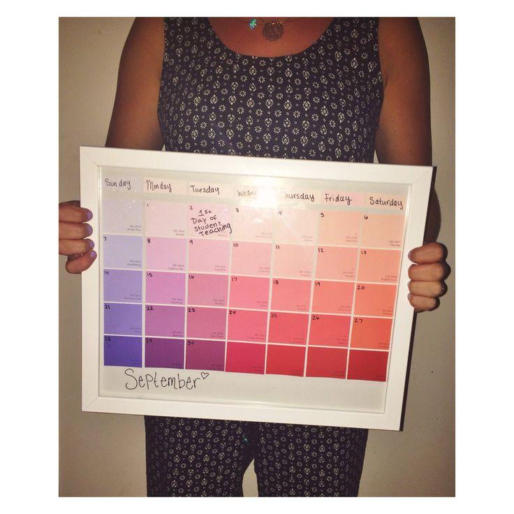 best 25 paint sample calendar ideas on pinterest paint swatch calendar paint chip calendar