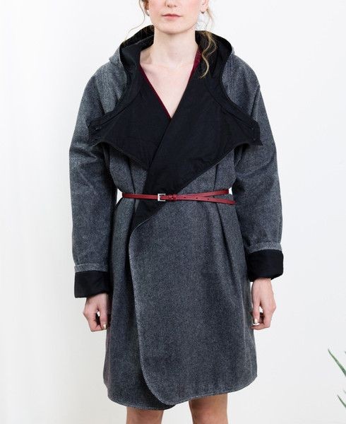 Waxed Herringbone Coat // Kate Sheridan