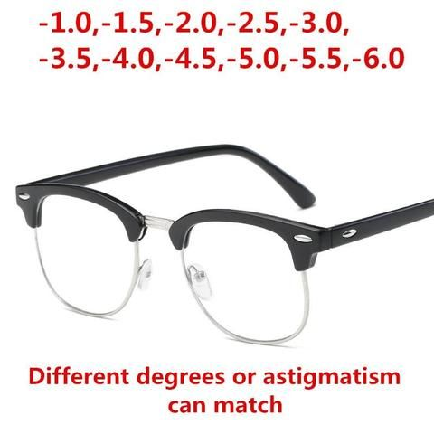 95fe3e9e9a Finished myopia glasses Men Women reading Eyeglasses myopia frame Lens  prescription opticaleosegal