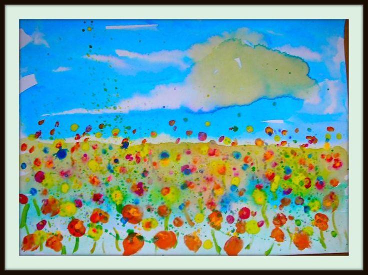 "Fine Lines: 1st Grade:  wild flowers, read ""Ish"" by Peter Reynolds"