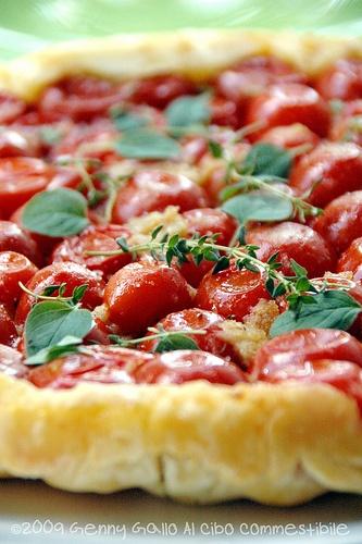tatin di pomodorini e scamorza affumicata #recipe #juliesoissons