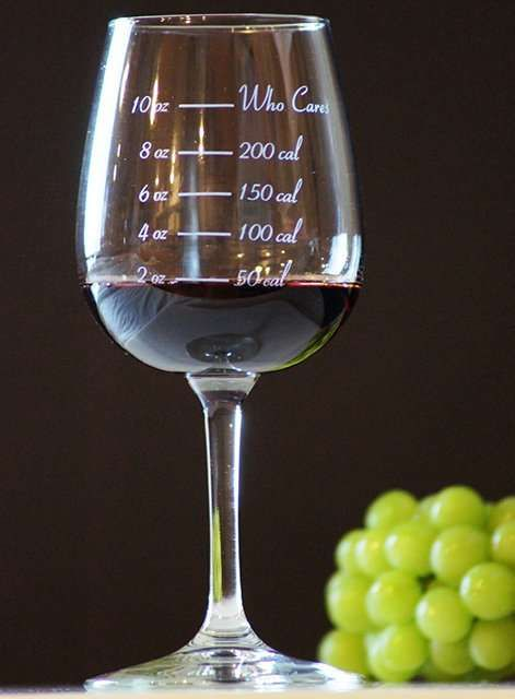 The Caloric Cuvee Calorie Counting Wine Glass Offers Nutritional Info trendhunter.com