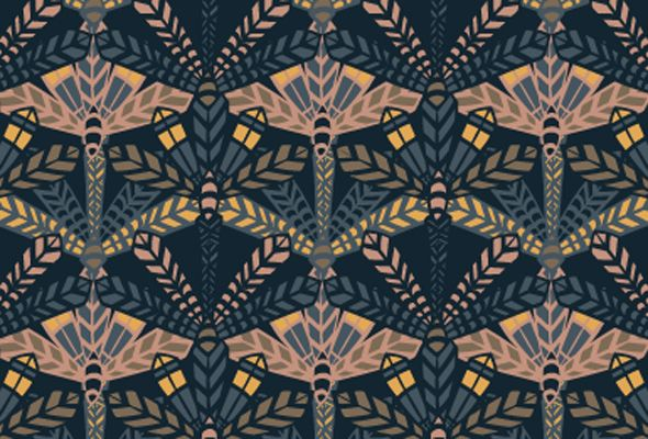 feathers pattern people inspired by art deco motifs this hand drawn feather print. Black Bedroom Furniture Sets. Home Design Ideas