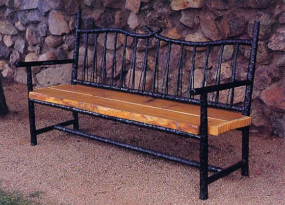 Custom Wrought Iron Benches, Quilt Stands, Andirons | Brian Hughes |  Blacksmith