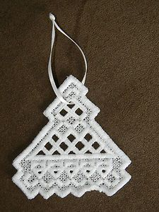Scandinavian Norwegian Hardanger Ornaments Tree Angel Heart Cross Snowflake