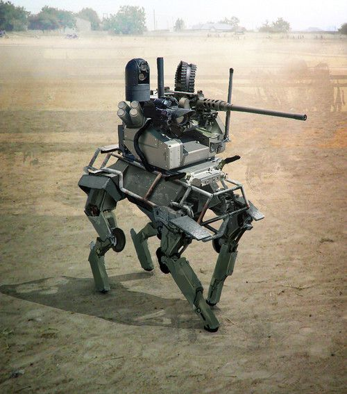 M.U.L.E. Unmanned weapon system