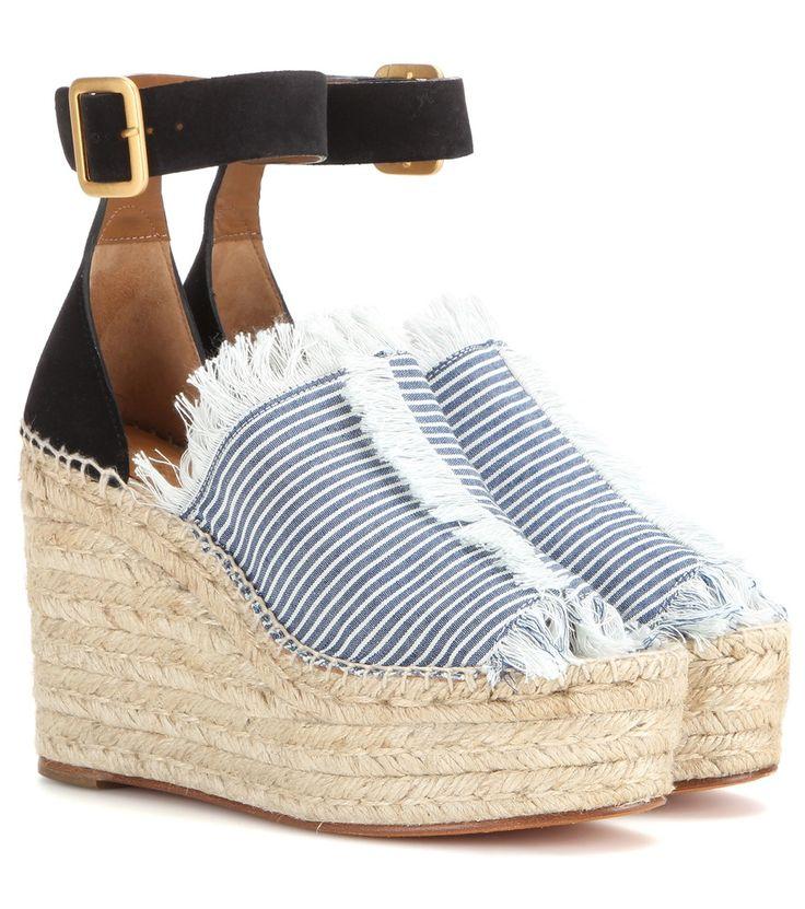 nice Wedge-sandalen Aus Veloursleder Und Canvas http://portal-deluxe.com/produkt/wedge-sandalen-aus-veloursleder-und-canvas/  495.00