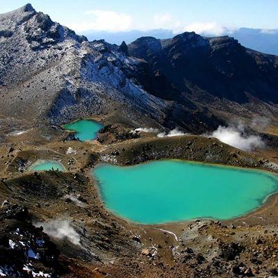 Tongariro Alpine Crossing Emerald Lakes Aerial View 2