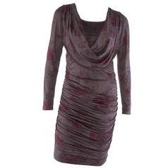 Aubergine kleurige suedine jurk van Creme de la Creme - CdlC   Collectie Creme de la Creme kleding   Fashionboutique Femelle
