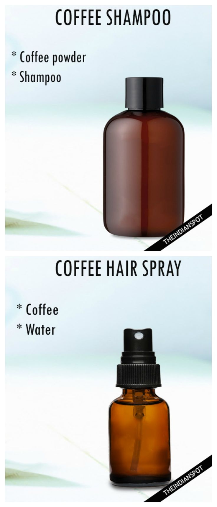 DIY Coffee shampoo and Coffee hair spray soft, shiny hair