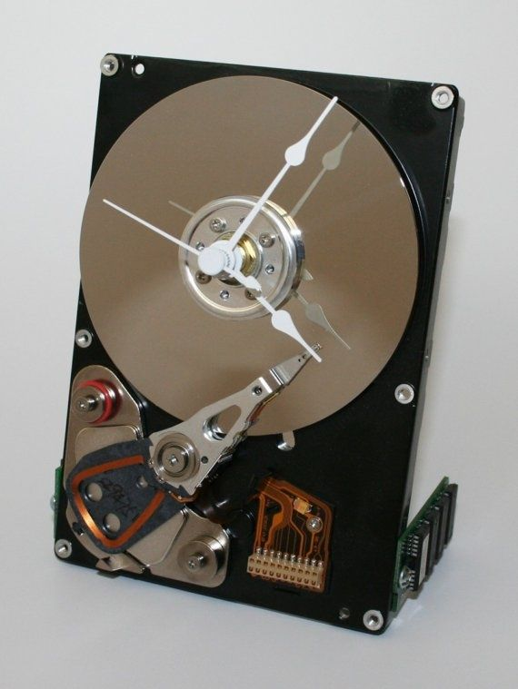 Computer Hard Drive Desk or Wall Clock I KNEW I wasn't the only one with this idea!