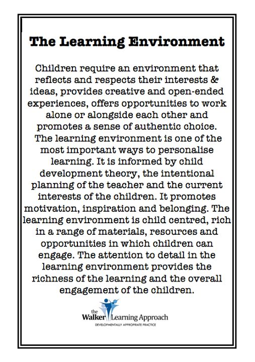 on learning environments                                                                                                                                                                                 More