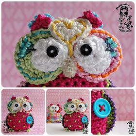 crochet owl pattern-I'd have to get someone else to do this-I am hopeless with yarn, but boy is he cute!