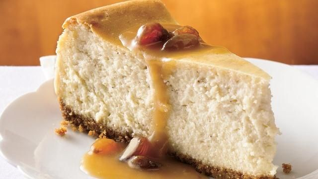 Hot Buttered Rum Cheesecake with Brown Sugar-Rum Sauce | Recipe