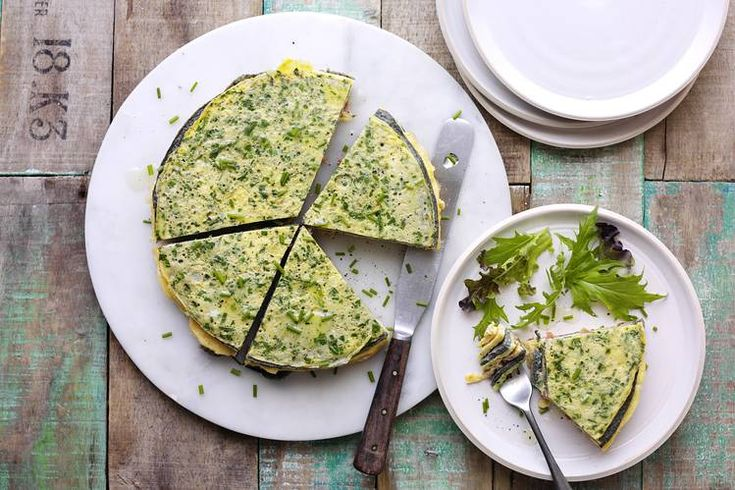 Crespeou - provençal omelette cake. Very tasty! Recommend omitting salt for the tapenade and comté omelettes, though--too salty with all the batters salted!