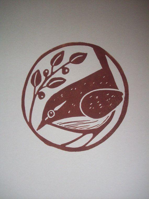 Print--Carolina Wren. Isn't this sweet. Perfect little wren
