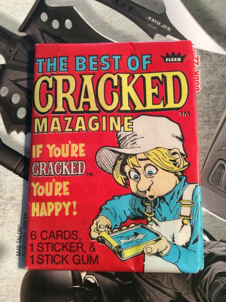 Fleer cracked magazine wax pack Vintage cards, Cards