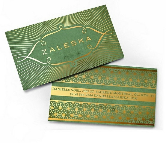 gold foil on green (maybe not match napkins but same feel so long as faded).