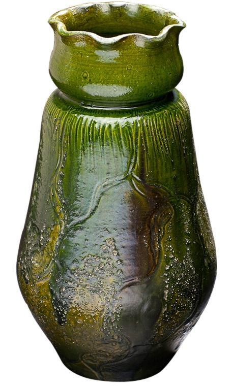 """Thorvald Bindesbøll(Danish)""""Aquatic Vase,"""" Denmark, 1895. In the """"Sknvirke style,"""" equivalent to German's Jugendstil."""