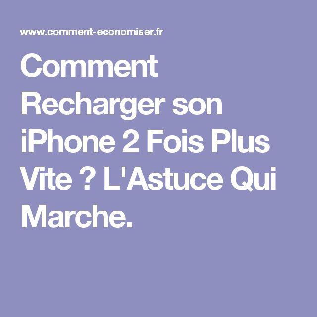 Comment Recharger son iPhone 2 Fois Plus Vite ? L'Astuce Qui Marche.