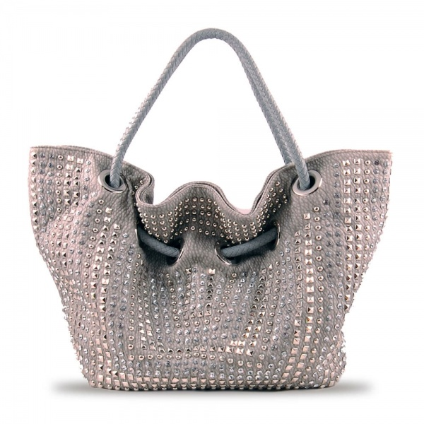 Susan Nichole Vegan Handbag Style 143 Roxy In Silver