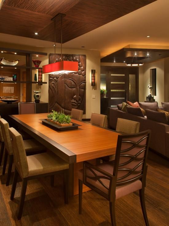 Resultado de imagen para diseño decoracion sala comedor muebles de madera