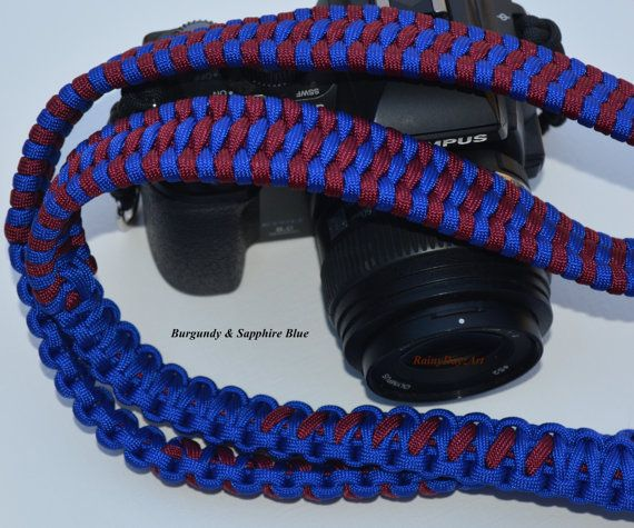 Handmade Paracord Camera Strap Trilobite Bar Weave by RainyDayzArt #ParacordCameraStraps #Gift #CameraAccessories #Photography #Nikon #Canon #Olympus #DSLR