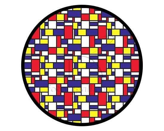 Zerbino rotondo con grafica colorata