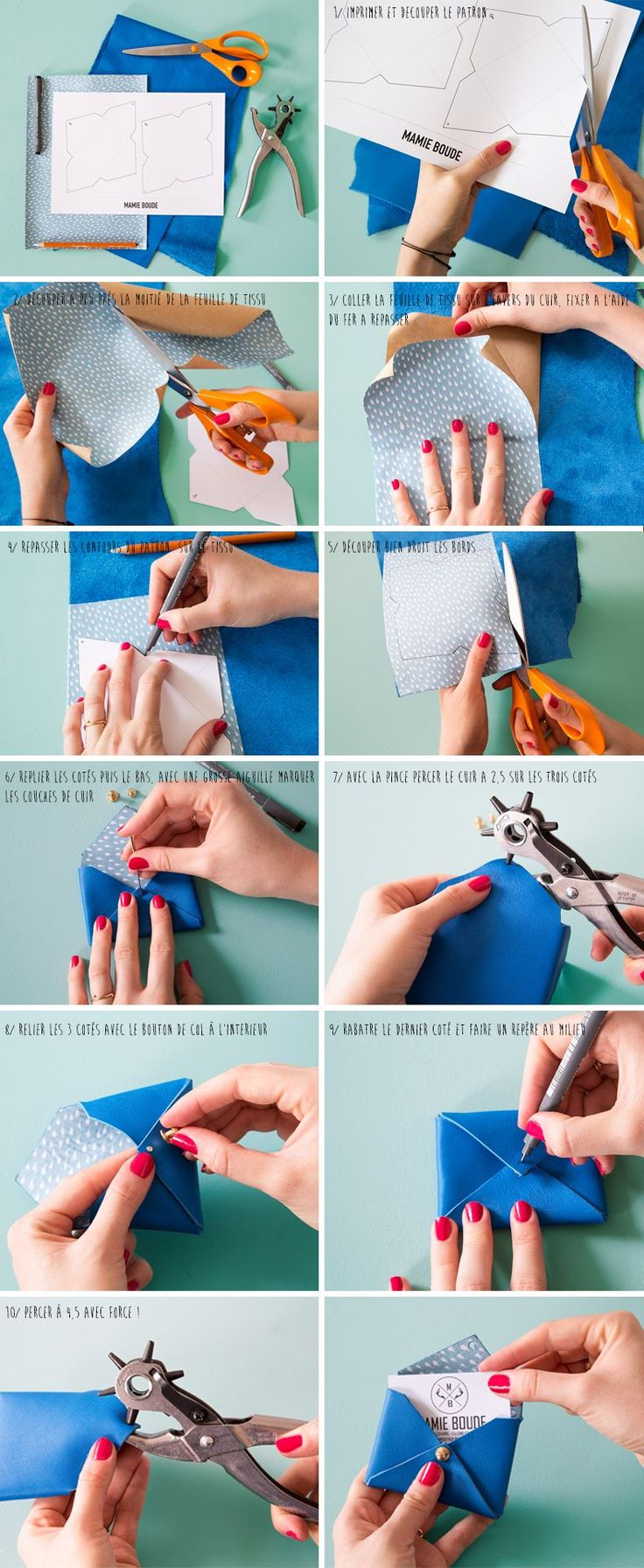 DIY Mini Leather Envelopes Tutorial