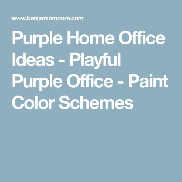 Purple Home Office Ideas - Playful Purple Office - Paint Color Schemes
