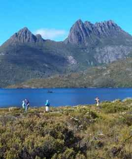 Cradle Mountain with its World Heritage listing is a must do for anyone visiting Tasmania.  You have a choice of day trips from nearby accommodation or an overland track covering a minimum of 65 km (40.4 mi).  If you prefer not to carry your own pack see http://www.cradlehuts.com.au/