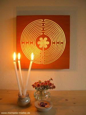 Goldenes Labyrinth, private Meditationsecke - Kontemplation, Gebet und Meditation