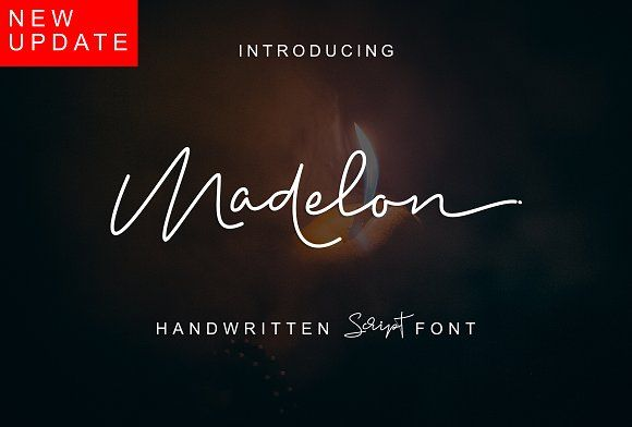 Madelon Script_NEW VERSION by Ijemrockart / Letterplay on @creativemarket