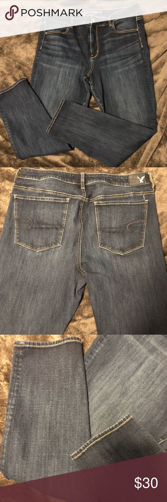 American Eagle Jeggings Barley worn, in perfect condition, jeggings, 360 degree stretch, high waisted. Jeans Skinny