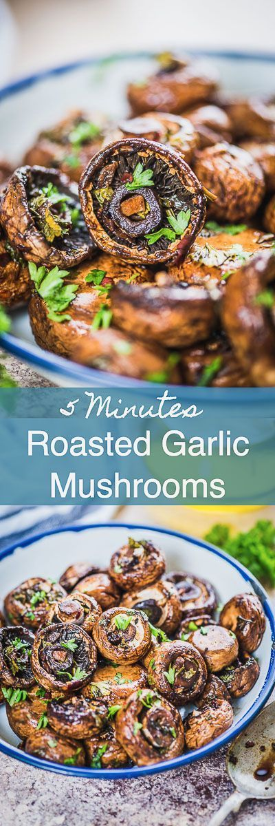 Step by Step Healthy Oven Roasted Garlic Mushrooms Recipe. These are super easy to make and makes for fabulous appetizer of side with steamed rice. Mushroom I Appetizer i side IO dish I easy I simple I best I perfect I recipe I quick I Healthy I Food I  Photography Y styling via @WhiskAffair