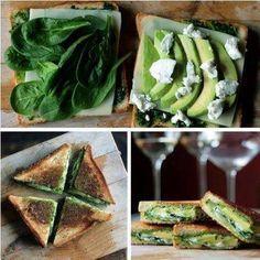 Prepara un sándwich sencillo y rico con varias rebanadas de Palta/aguacate, hojas de espinaca, queso fresco de soja y pimienta. Ponlo en la ...