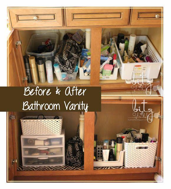 How To Organize Your Bathroom Vanity: Bathroom Organization