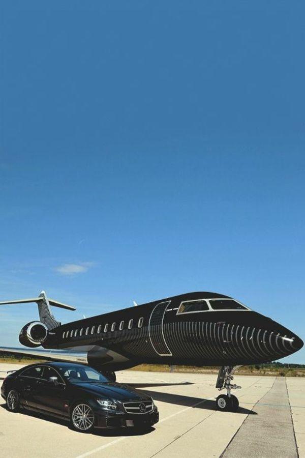 le jet privé prix, voiture noire de luxe