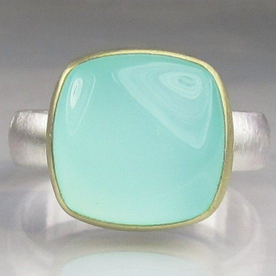 Sea Green Chalcedony Ring