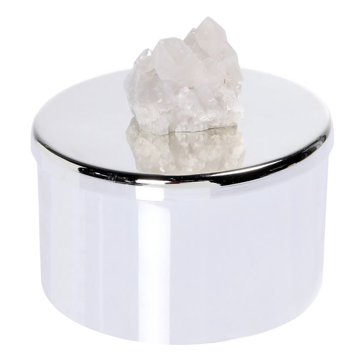 LUXURIOUS WHITE AMETIST CANDLE