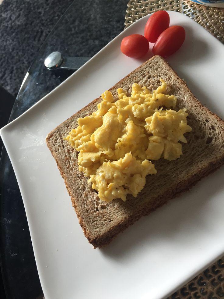 Scrambled eggs for a healthy breakfast!