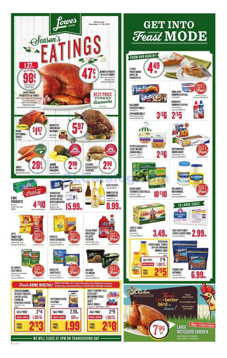 Lowes foods Weekly Ad November 14 – 20, 2018. View the ...