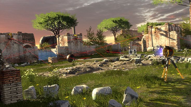 """The Talos Principle"" by Croteam, Tom Jubert, and Jonas Kyratzes (The Talos Principle is a first-person puzzle game in the tradition of philosophical science fiction)"