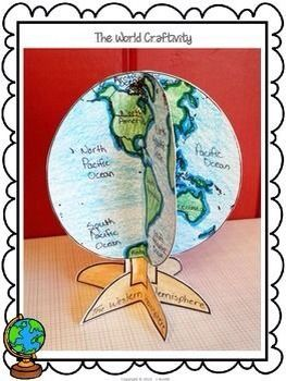 Globe Craft Idea - It would be cool to use this on the Maps versus Globes comparisons and write the comparisons on accompanying crafts instead of just on a chart.