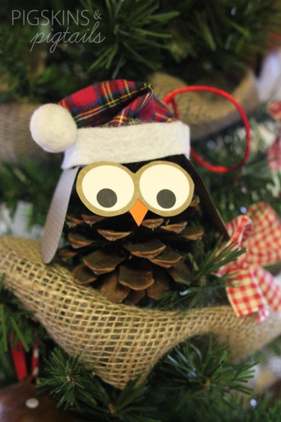 Pine Cone Owl Ornaments Pinterest Top Pins | The WHOot