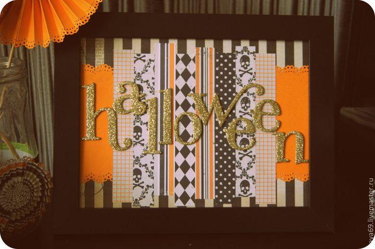 Купить Декор к праздникам. Хэллоуин. - декор для интерьера, декоративные элементы, хеллоуин, оранжевый, Свечи, рамки