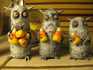 POLYMER CLAY and ACRYLIC PAINT mealy monster land: rude little buggers